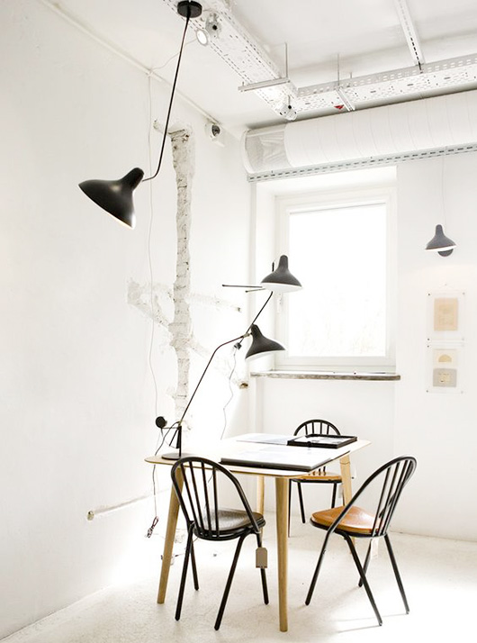 collection of serge mouille lighting fixtures / sfgirlbybay