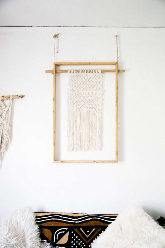 wood and rope wall hanging by lark + arrow / sfgirlbybay