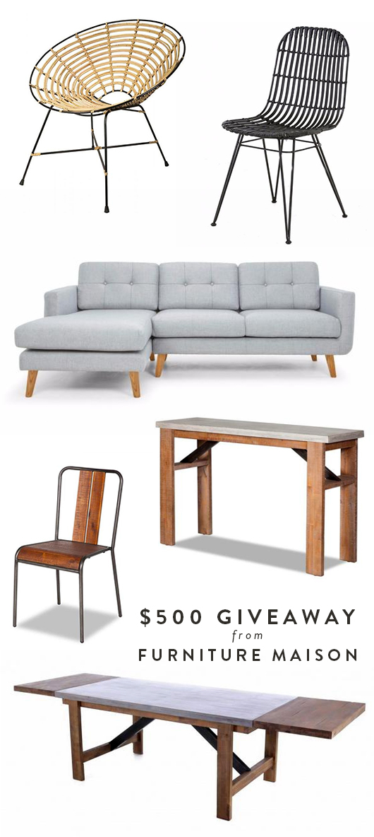 furniture giveaway from furniture maison / sfgirlbybay