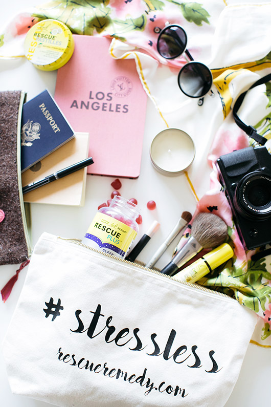 rescue remedy travel bag filled with essentials. / sfgirlbybay