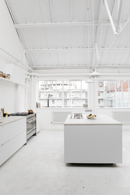 modern and minimalist white kitchen at rye london. / sfgirlbybay
