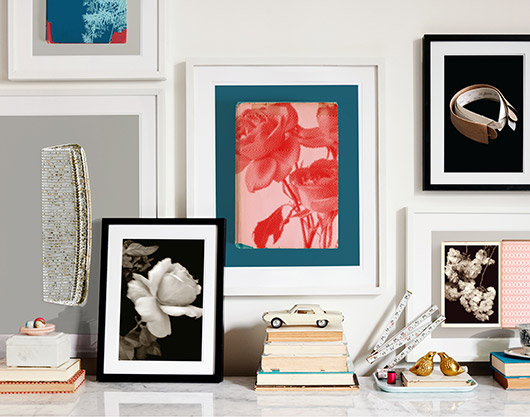 small gallery art wall by permanent press editions. / sfgirlbybay