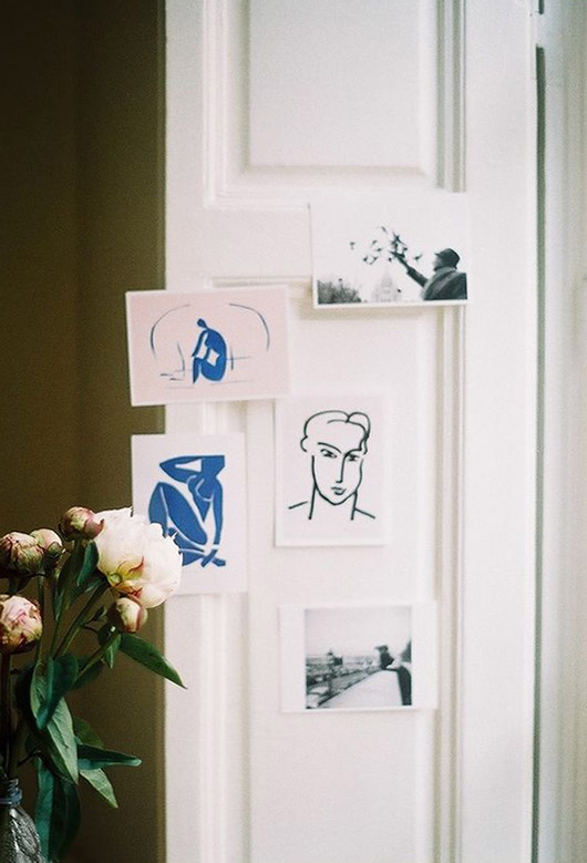small simple art prints on wall. / sfgirlbyby