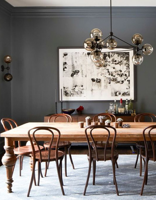 bentwood dining room chairs. / sfgirlbybay