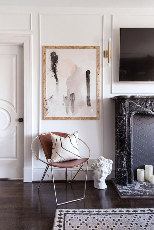 blush and black wall art. / sfgirlbybay
