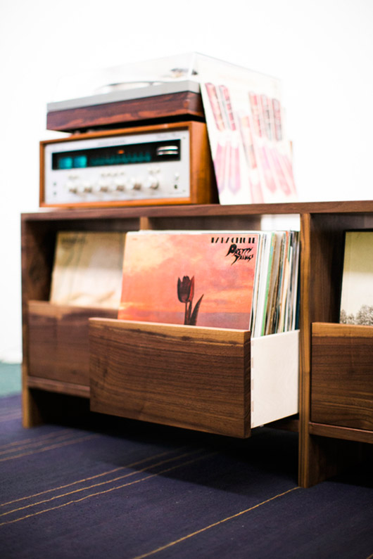 modern record table with drawers. / sfgirlbybay
