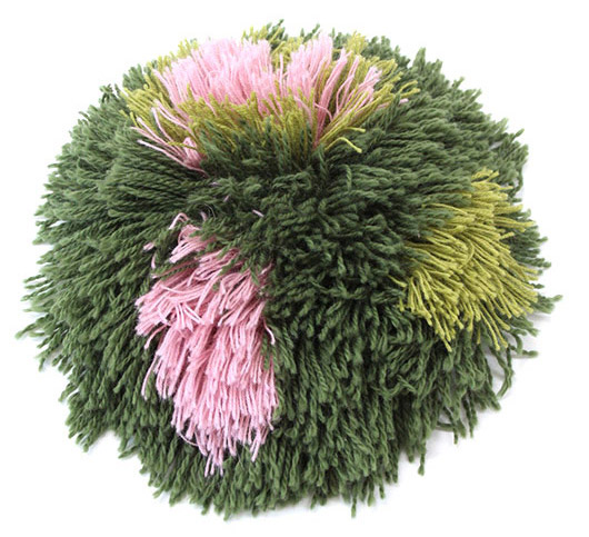 green and pink pompom. / sfgirlbybay