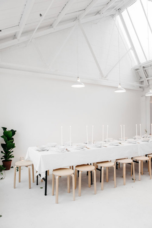 modern white dining space at rye london. / sfgirlbybay