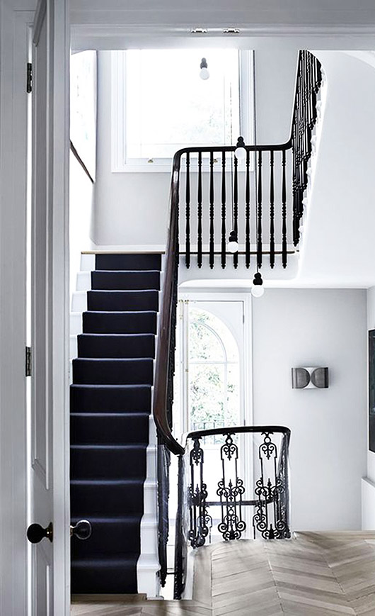 black and white stairwell. / sfgirlbybay