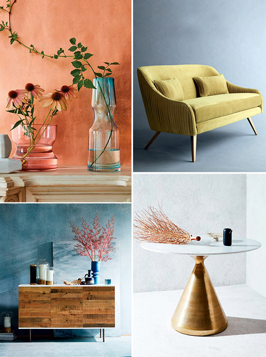 bold colors and shapes in west elm's 2017 catalog. / sfgirlbybay