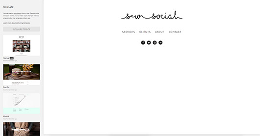 designing websites with squarespace. / sfgirlbybay