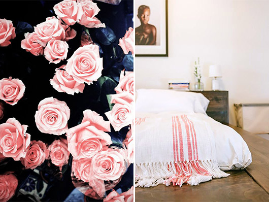 white and pink bedding and decor. / sfgirlbybay