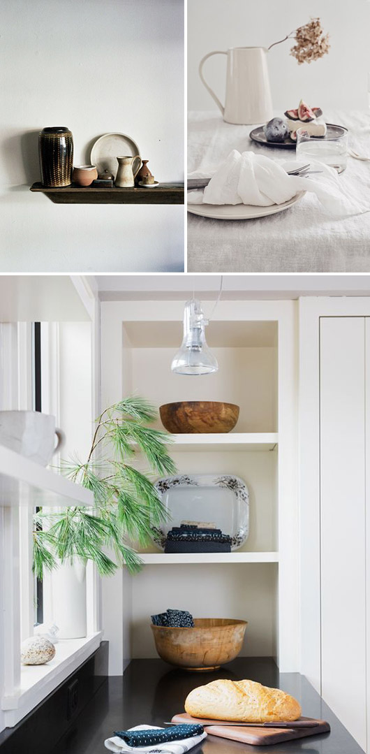 simple white kitchen and decor. / sfgirlbybay