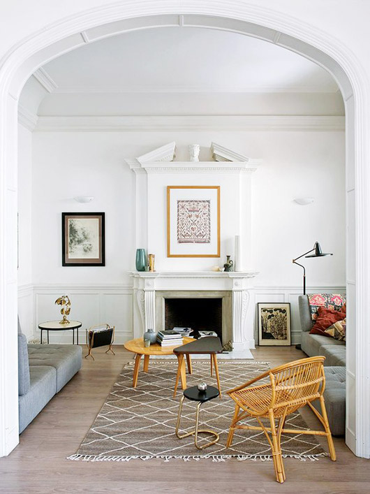 arched living room entrance via A & B curated. / sfgirlbybay