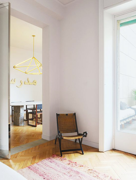 art-filled home in milan via the new york times. / sfgirlbybay