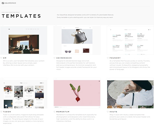 templates from squarespace. / sfgirlbybay