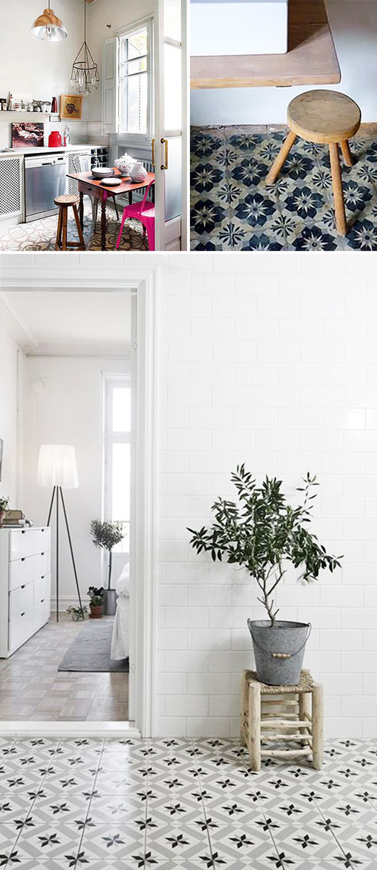 patterned floor tiles. / sfgirlbybay