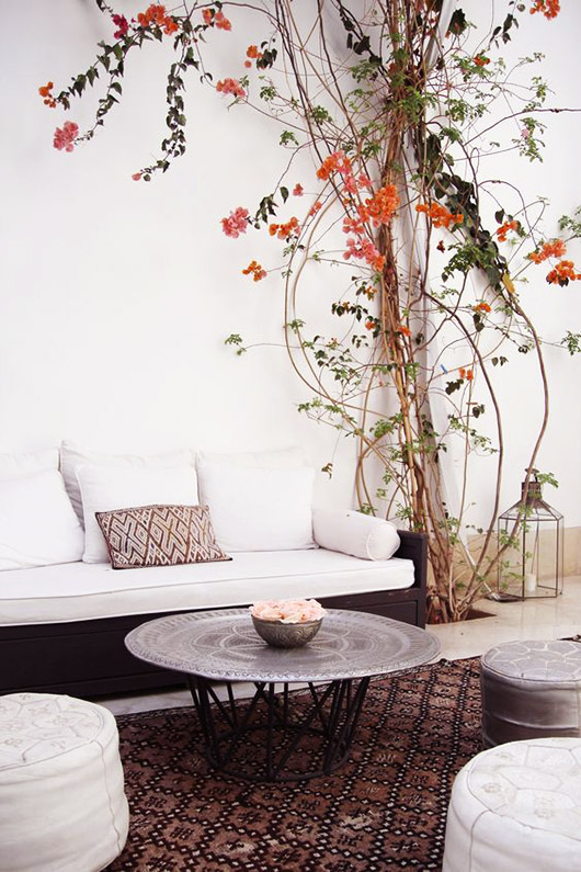 patterned area rug on patio. / sfgirlbybay