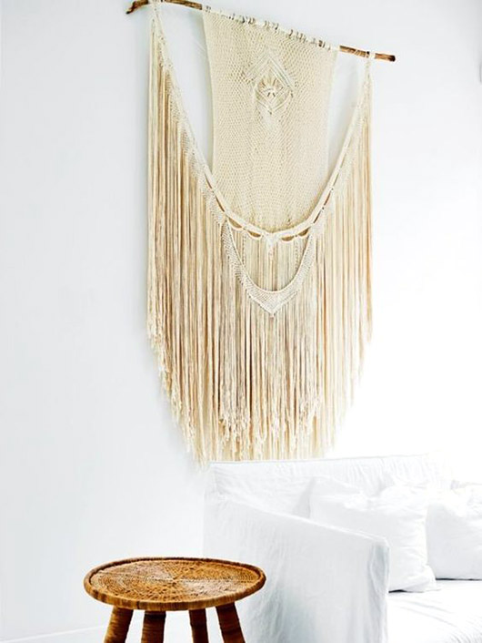 wall hanging and stool inside sydney's bellevue hill. / sfgirlbybay