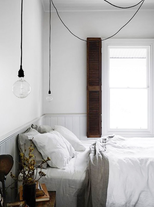 rustic meets modern bedroom decor. / sfgirlbybay