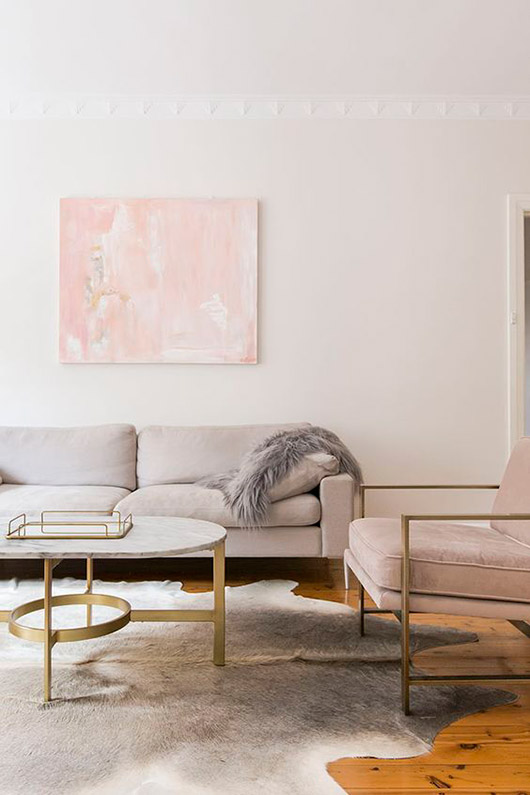 decor with pale pink tones. / sfgirlbybay