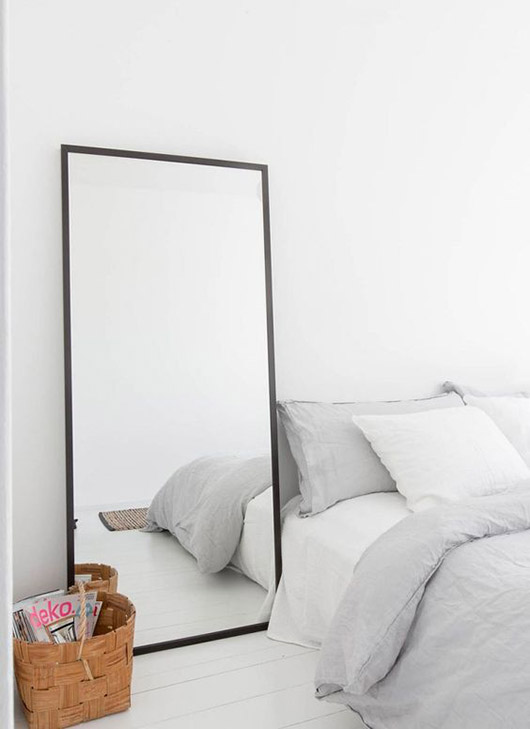 modern black framed mirror. / sfgirlbybay