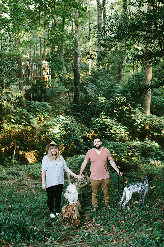 floral designer ayla gurganus and her husband and dogs. / sfgirlbybay