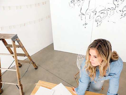 carly kuhn photographed in her dtla art studio. / sfgirlbybay