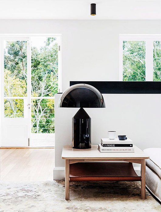 modern black table lamp. / sfgirlbybay