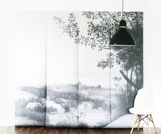 black and white oversized mural. / sfgirlbybay