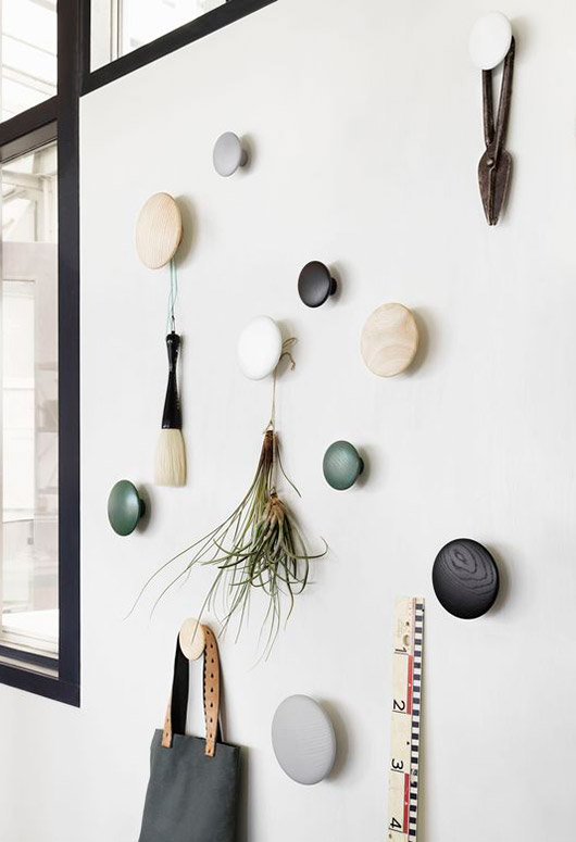 wood polka dot wall hooks. / sfgirlbybay
