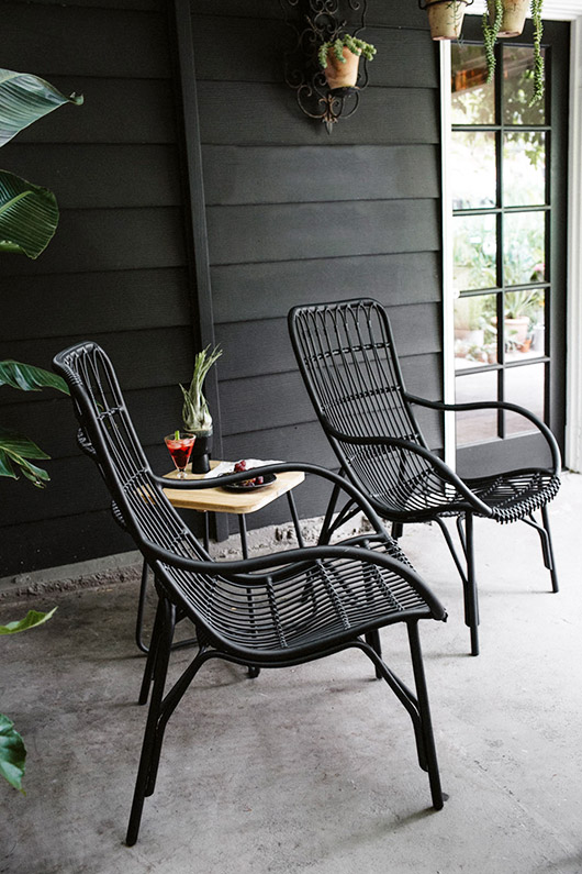 Article's Medan Lounge Chairs in graphite. / sfgirlbybay