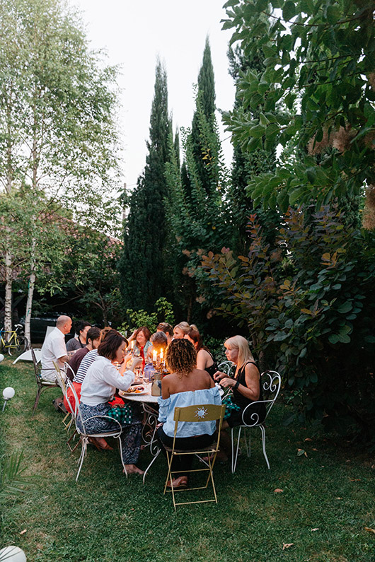dinner al fresco in france via mignonne's lush getaways. / sfgirlbybay