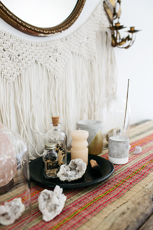zen shrine created with home goods via urban outfitters. / sfgirlbybay