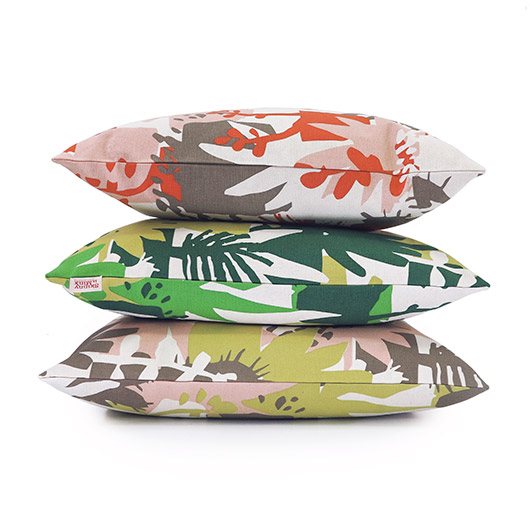 colorful floral print pillows by skinny laminx. / sfgirlbybay