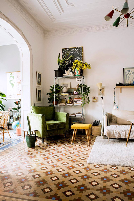 barcelona home of designer paloma lanna via architectural digest. / sfgirlbybay