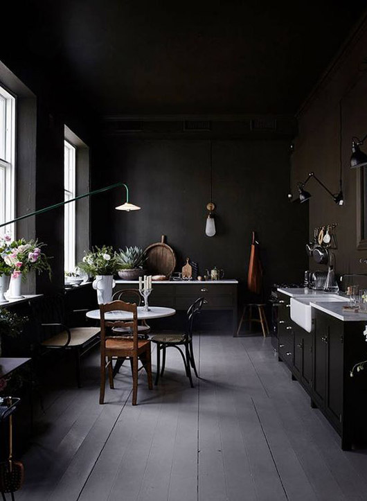 black kitchen decor. / sfgirlbybay