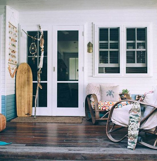 surf shack with wood floors. / sfgirlbybay