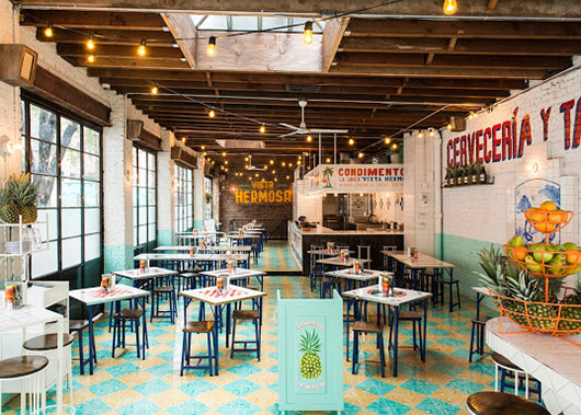 colorful tile floors at tacombi. / sfgirlbybay