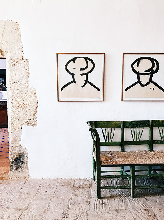 black and white art in spain. / sfgirlbybay