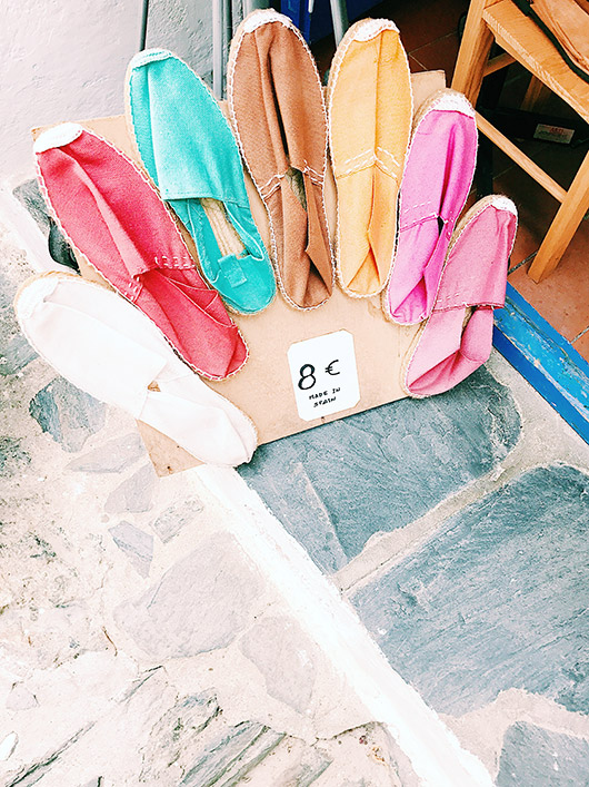 colorful handmade shoes in spain. / sfgirlbybay