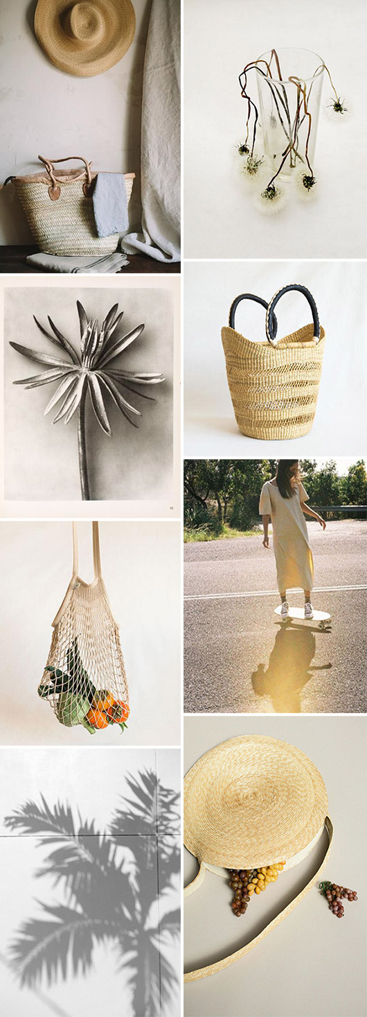 woven bags, totes and baskets for summer. / sfgirlbybay