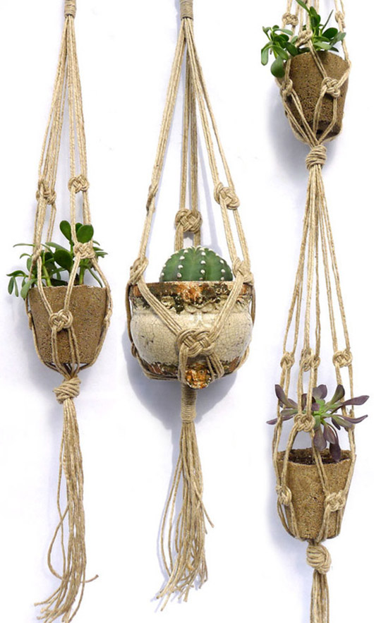 macrame hanging planters from cold picnic. / sfgirlbybay