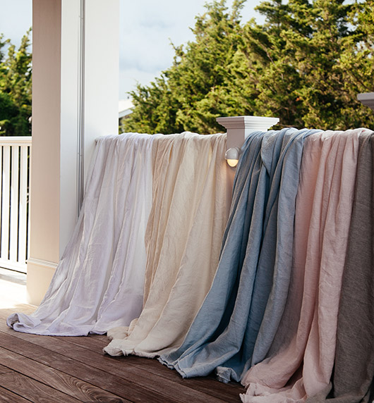 saphyr pure linen in a variety of colors. / sfgirlbybay