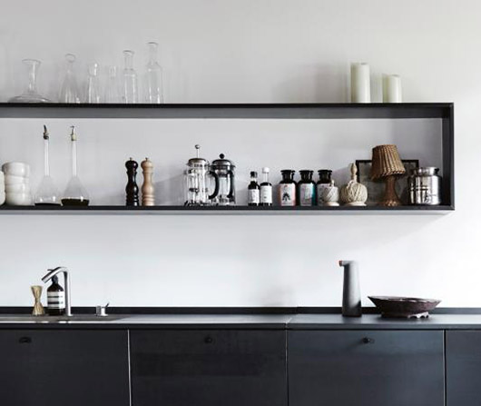 modern black and white kitchen in provence. / sfgirlbybay