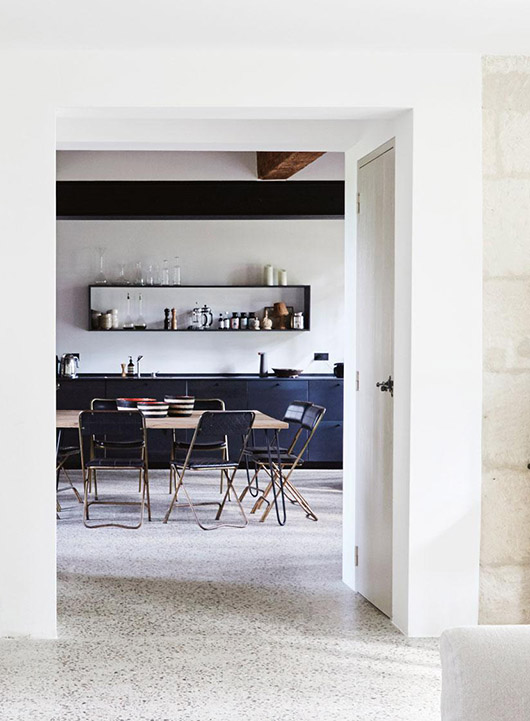 vintage modern dining room in french summer home. / sfgirlbybay