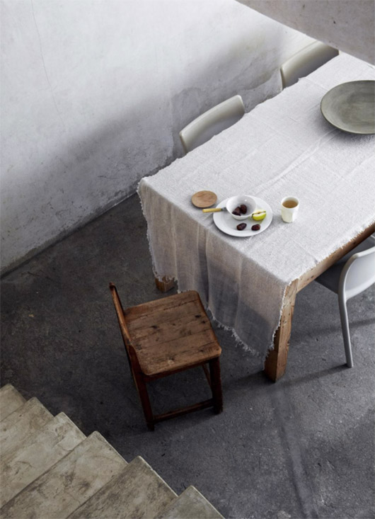 minimalist dining space featured in EST magazine. / sfgirlbybay