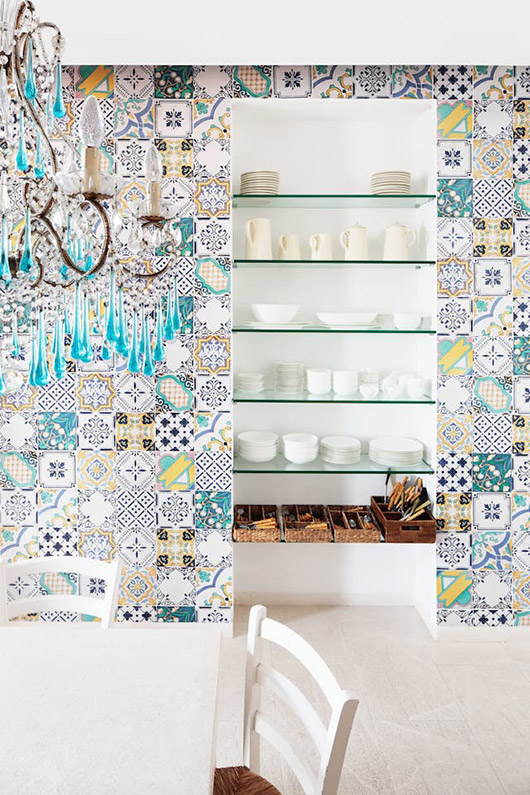 tile wall in home designed by matteo thun & partners. / sfgirlbybay