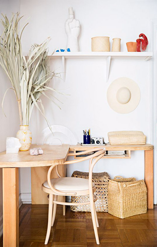 natural palette in home of fashion designer maryam nassirzadeh. / sfgirlbybay