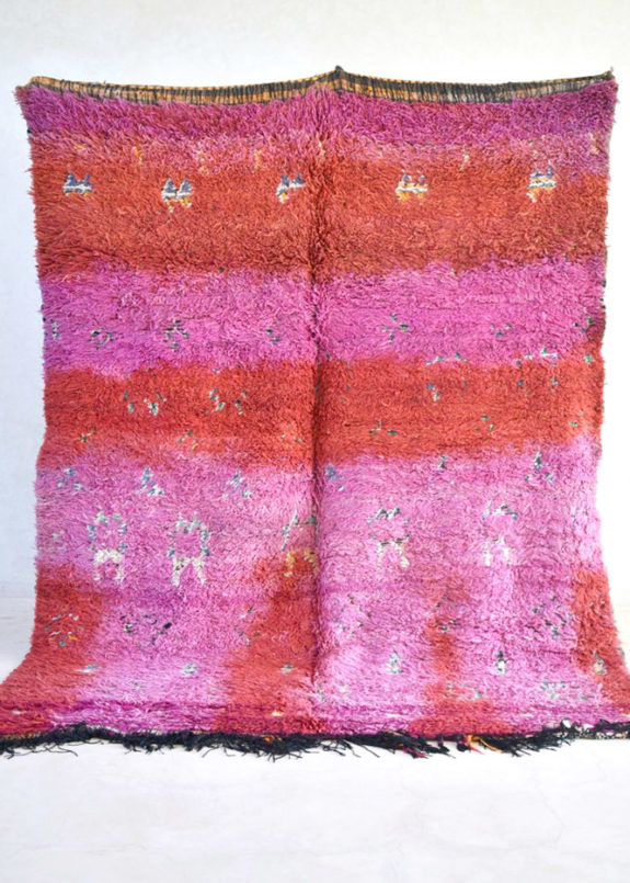 pink and red moroccan rug from the gardener's house. / sfgirlbybay